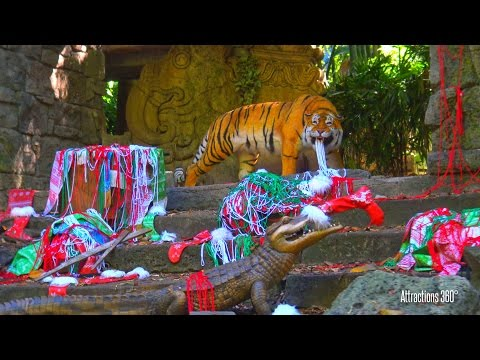 [4k] Jingle Cruise 2016 (Holiday Jungle Cruise Ride) Disneyland