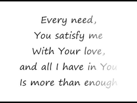 Enough - Chris Tomlin [lyrics]