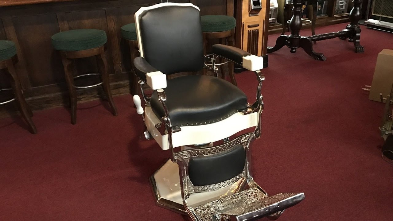 Koken Barber Chair For Sale Lounge Sex 1930's Sold - Youtube
