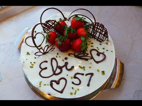 Thermomix Tm 5 Erdbeer Torte Kuchen Mit Joghurt Zum Geburtstag