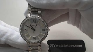 Women's Fossil Virginia Crystallized Watch ES3282