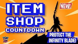 FORTNITE ITEM SHOP UPDATE LIVE | MISSION: PROTECT THE INFINITY BLADE! | Fortnite Battle Royale