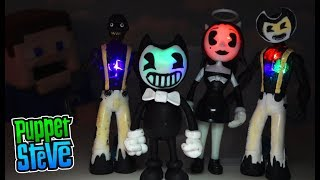 Bendy and the Ink Machine BOOTLEG FIGURES CHAPTER 2 Fake Knock off Boris Wolf Review Toys Plush hack