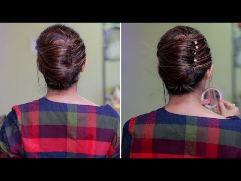 Quick and Easy French Bun, French Roll, French Twist Hairstyle | Rinkal Soni