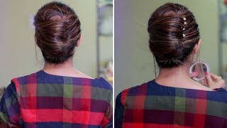 Quick and Easy Summer Hairstyle   French Bun, French Roll, French Twist Hairstyle