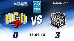 18.09.2018 HC Düdingen Bulls - HC La Chaux-de-Fonds (0-3)