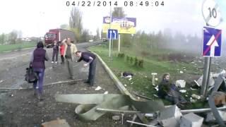 Взрыв на автозаправке в Киеве. (An explosion at a gas station in Kiev.)