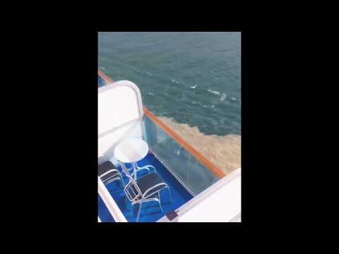 Alaskan cruise/ Glacier water and ocean water combine