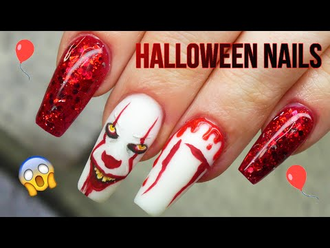 IT Inspired Halloween Nail Art