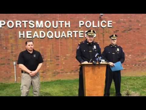 Portsmouth police chief, Tom Lee, speaks to the media about the shooting that took place in Portsmou