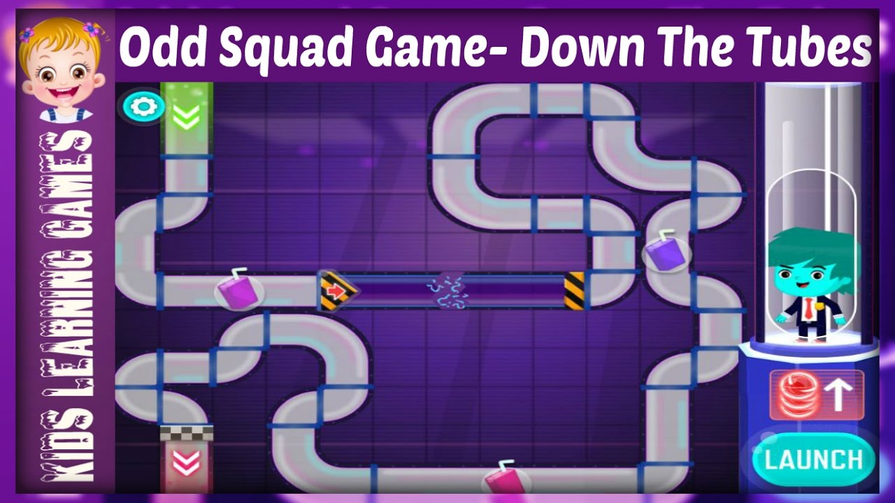 Pbs Kids Odd Squad Game Down The Tubes