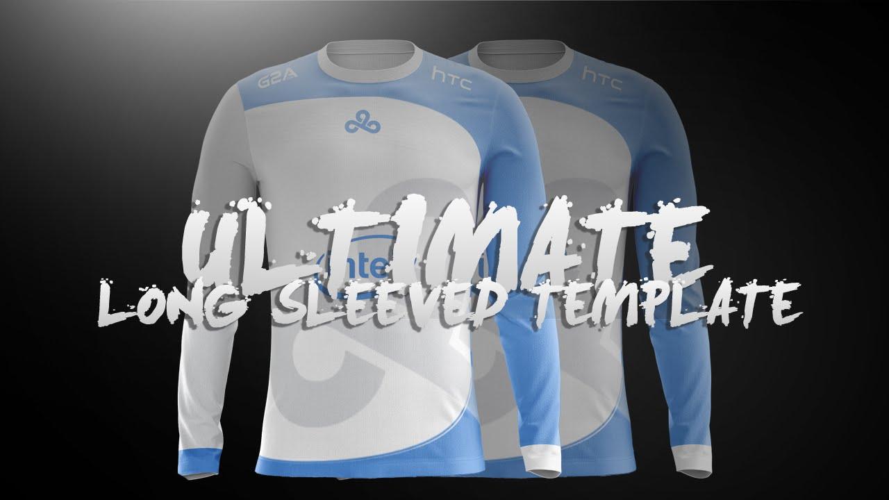 ultimate long sleeved jersey template l design tutorial 13 youtube. Black Bedroom Furniture Sets. Home Design Ideas