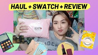 BeautyMNL Haul Review! Unboxing & Makeup Swatch (ColourPop The Zodiac, Faboulash, ++) | Jikka Defiño