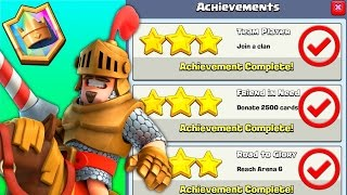 """Clash Royale """"100% ACHIEVEMENTS COMPLETE!"""" [Royale Giant Gameplay]"""