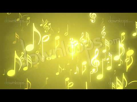 Musical Notes Gold - Music Themed Video Loop