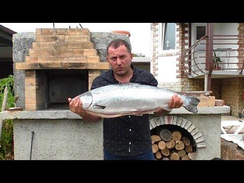 Как сделать шашлык из красной рыбы