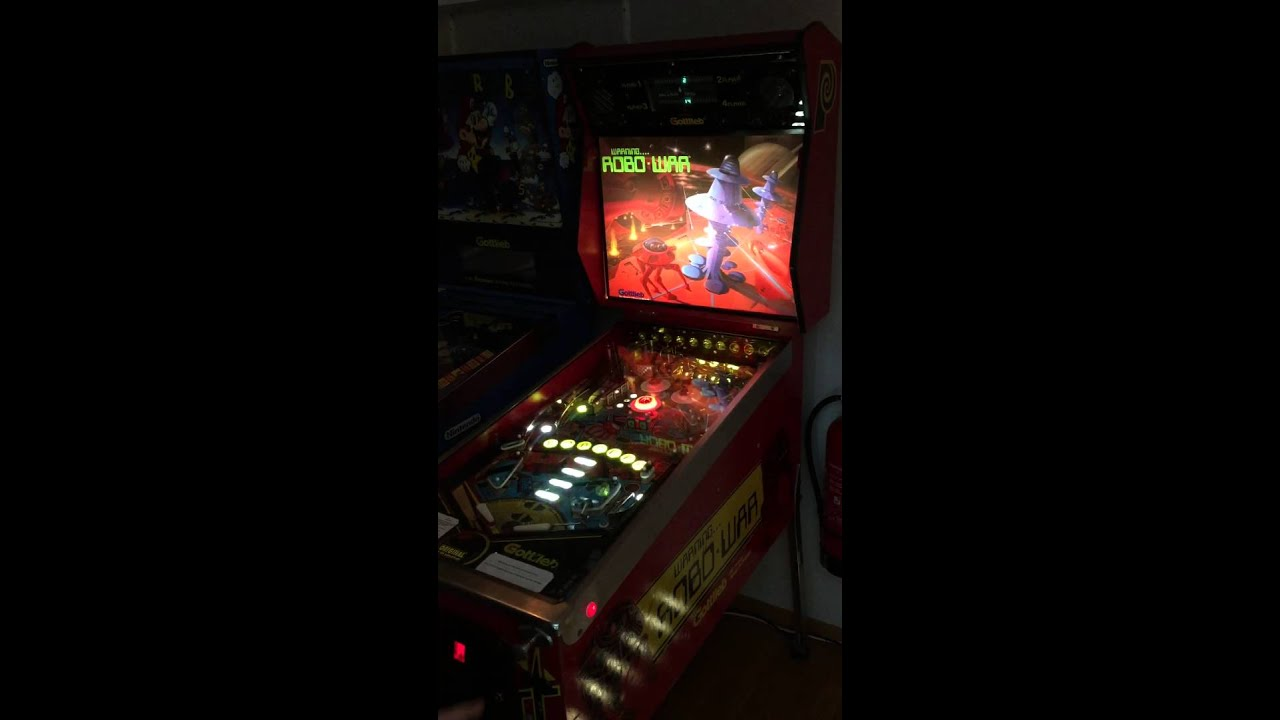 gottlieb robo war pinball machine full led robowar youtube rh youtube com D Gottlieb Pinball Machines Gottlieb Pinball Machine Parts