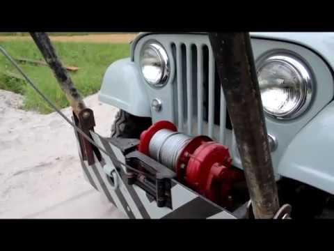 Willys CJ6 Gin Pole Setting Steel Welding Arc Shots
