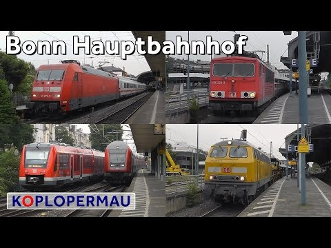 Treinen op station Bonn Hbf // Züge am Bonn Hauptbahnhof // German Train Compilation