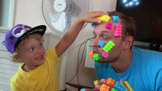 (ليغو) إلتصق بوجه أبي \ Lego stuck in the face of dad