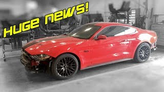 BIG NEWS FOR MY WRECKED 2019 MUSTANG GT & TWIN TURBO UPDATE!