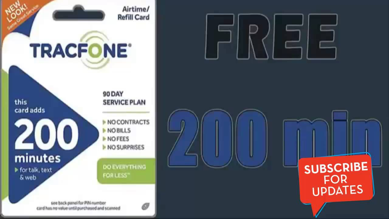 free minutes for tracfone without airtime card | Cardfssn org