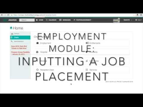 "CA - AWARDS Employment Module - Creating a ""Job Placement"""