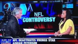 Deanne Arthur talks to KUSI news about Adrian Peterson