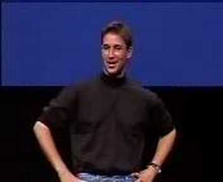 Macworld NY 1999Noah Wyle imitating Steve Jobs