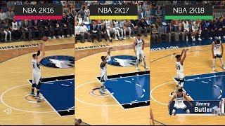 NBA Series Evolution: NBA 2K18 vs. NBA 2K17 vs. NBA 2K16 – Graphics Comparison | PC | 4K UHD
