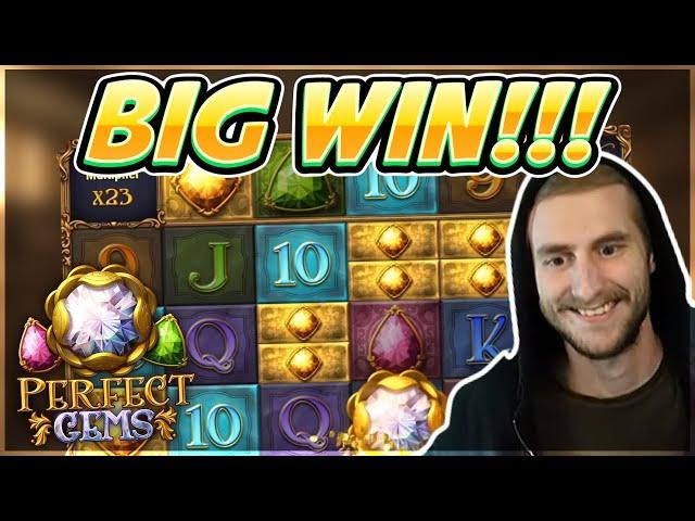 HUGE WIN! Perfect Gems Big win - Casino games from Casinodaddy Live Stream