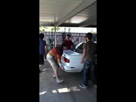 Lifting the car super high