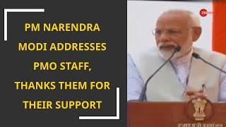 pm narendra modi addresses pmo staff
