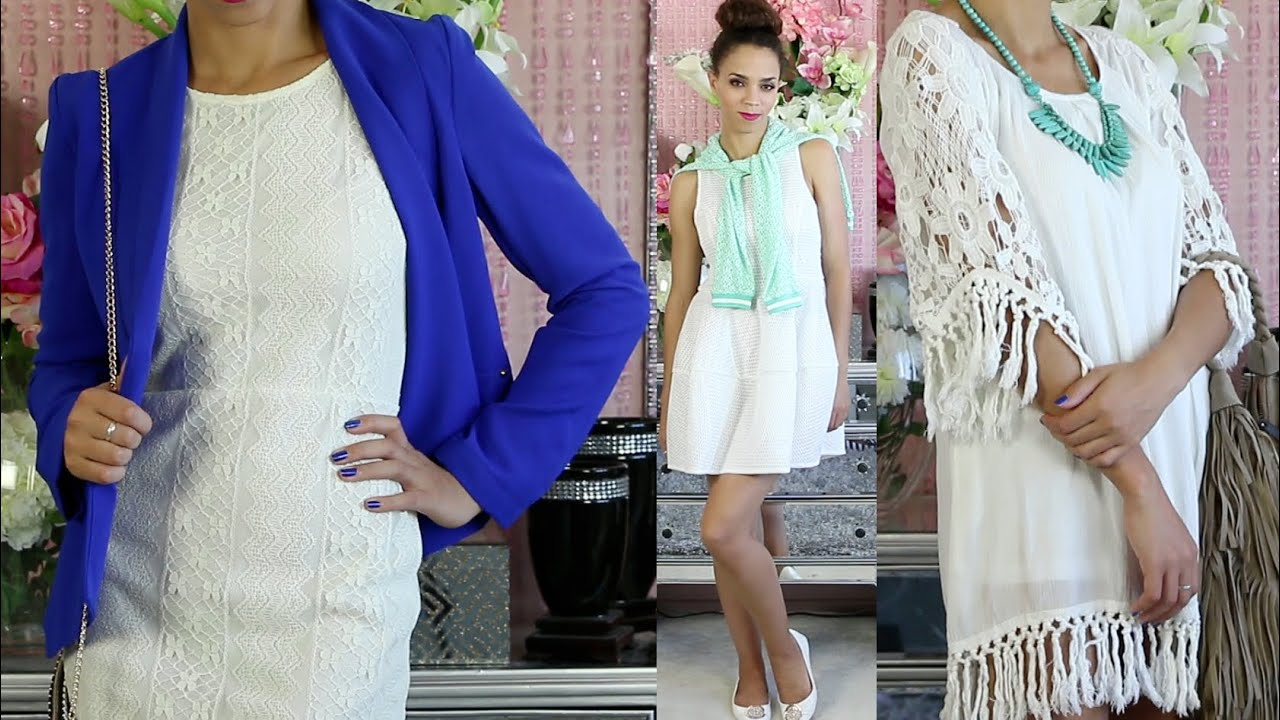 How to Wear a White Dress   Outfit Ideas   Summer Outfits    YouTube