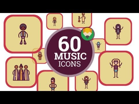 People Music Genre Icons | After Effects template