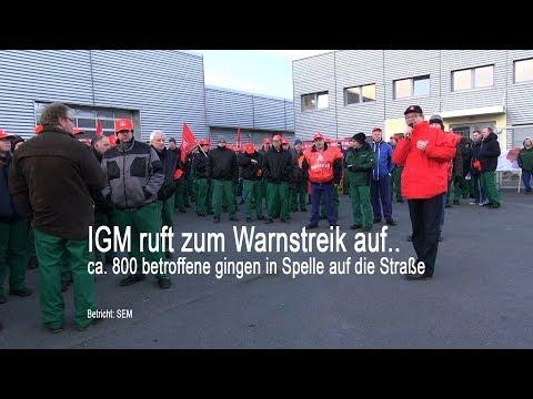 Streik der IGM in Spelle vor der Fa. Krone   gefordert werden 6% mehr Lohn!