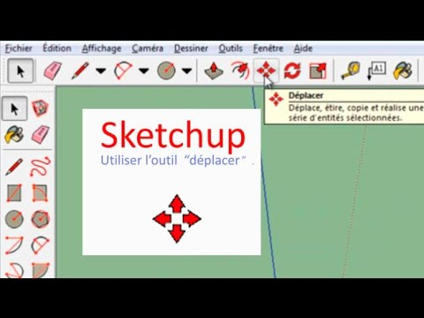Sketchup outil d placer projet architecture cm2 youtube for Outil miroir sketchup