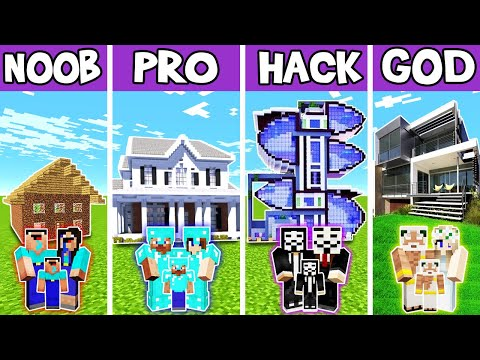 minecraft:-family-high-tech-mansion-build-challenge---noob-vs-pro-vs-hacker-vs-god-in-minecraft