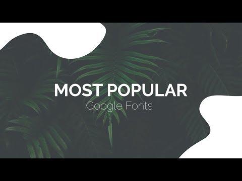 Most Popular Google Fonts Free Download
