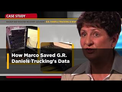 Backup and Disaster Recovery System Saves G.R. Daniels Trucking Data