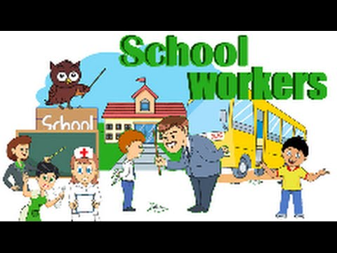 ESL. SCHOOL WORKERS vocabulary EASY ENGLISH, ESL, Learn English, Basic, School
