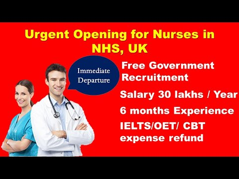 Urgent Large Nursing Job Openings In NHS Trust Hospitals, UK