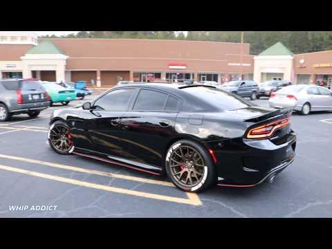 WhipAddict: Dodge Charger Hellcat SRT on Letter Tires Going Crazy at Atlanta Fall Fest