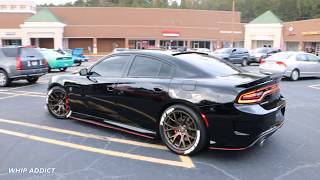 WhipAddict: Dodge Charger Hellcat SRT on Letter Tires Going Crazy at Atlanta Fall Fest
