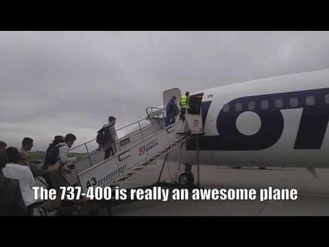 (HD) Flight Report-LOT Polish 737-400 Economy Warsaw to London