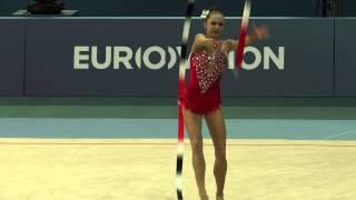 Гимнастка Марина Дурунда. Выступление с лентой(http://www.vestikavkaza.ru/video/, 2014-06-14T17:45:50.000Z)