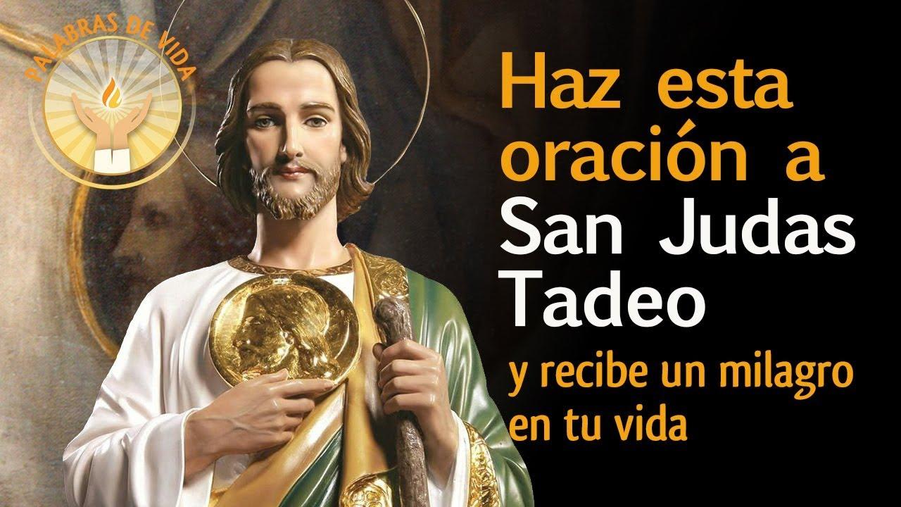 Oracion A San Judas Tadeo Para Casos Dificiles Youtube