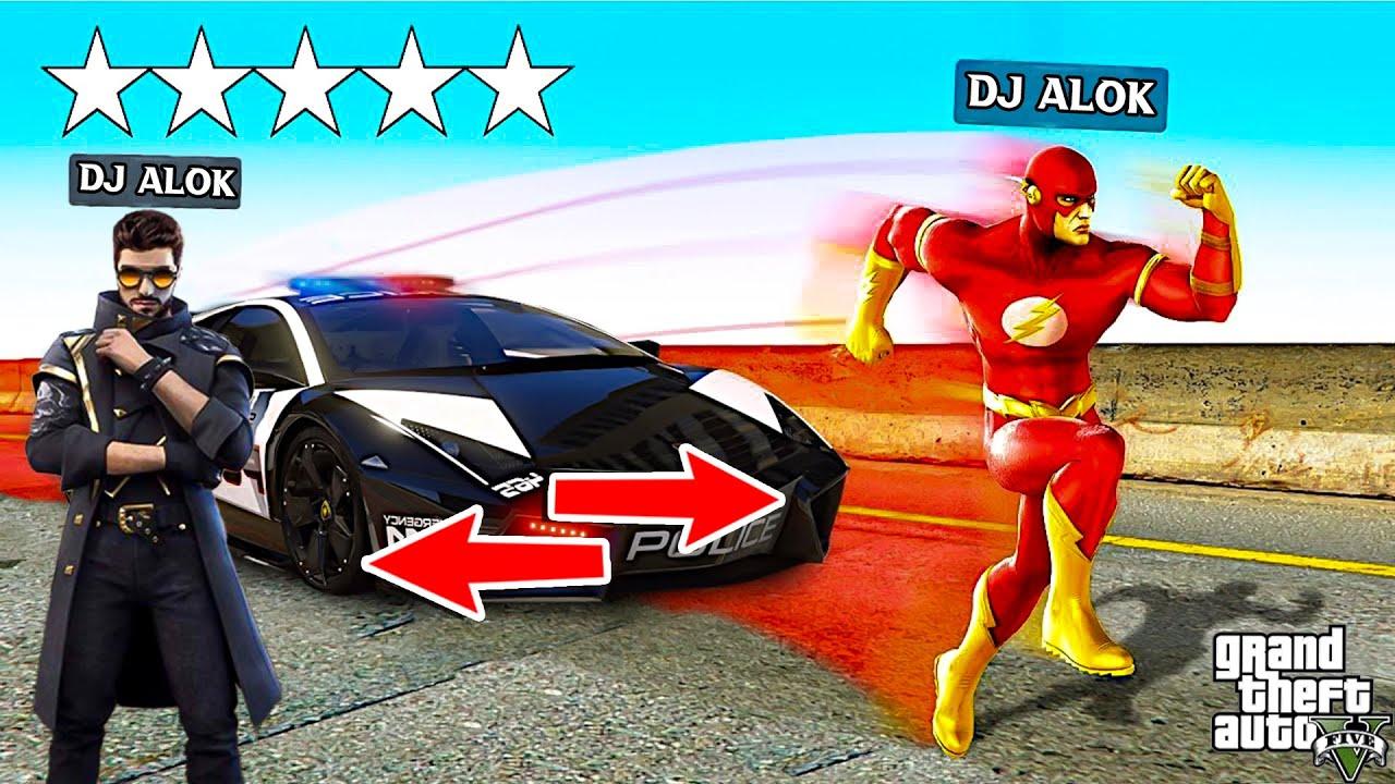 "GTA X FREEFIRE :  ""DJ ALOK BECOMES FLASH "" WITH SHINCHAN"