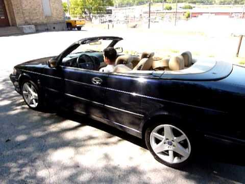 2002 saab 9 3 se 2dr convertible 124k youtube. Black Bedroom Furniture Sets. Home Design Ideas