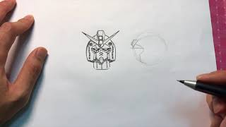 How to draw a Gundam 101 : A RX-78-2 Gundam Head in Detail